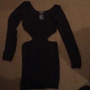 Bebe cute cut out dress tight petite small black